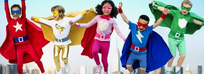 Super Hero Party at Ivy and Jack